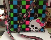 Monster High Inspired Duct tape Cross Body Bag