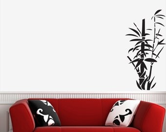 """WALL - Bamboo - Zen Garden - Vinyl Wall Decal (15""""w x 30""""h) (Color Variations Available)"""