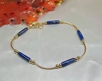 Blue Lapis Ankle Bracelet Gold Ankle Bracelet Gold Anklet Blue Lapis Lazuli Anklet 14k Gold Filled Anklet Ankle Jewelry BuyAny3+1Free