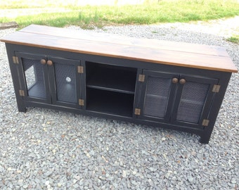 Media Console, Media Stand, TV Stand Rustic