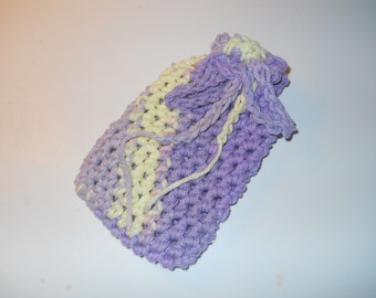 100 % Cotton Crocheted Soap Saver, crocheted soap saver, soap saver, bath product, crochet bath