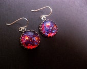 Dragons Breath Mexican Opal Earrings With Sterling Silver