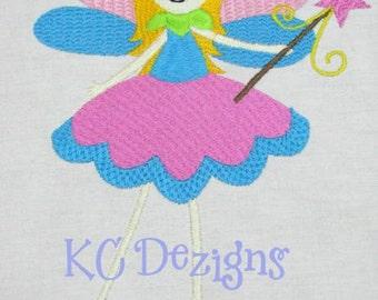 Garden Fairies 01 Machine Embroidery Design - 4x4, 5x7 & 6x8