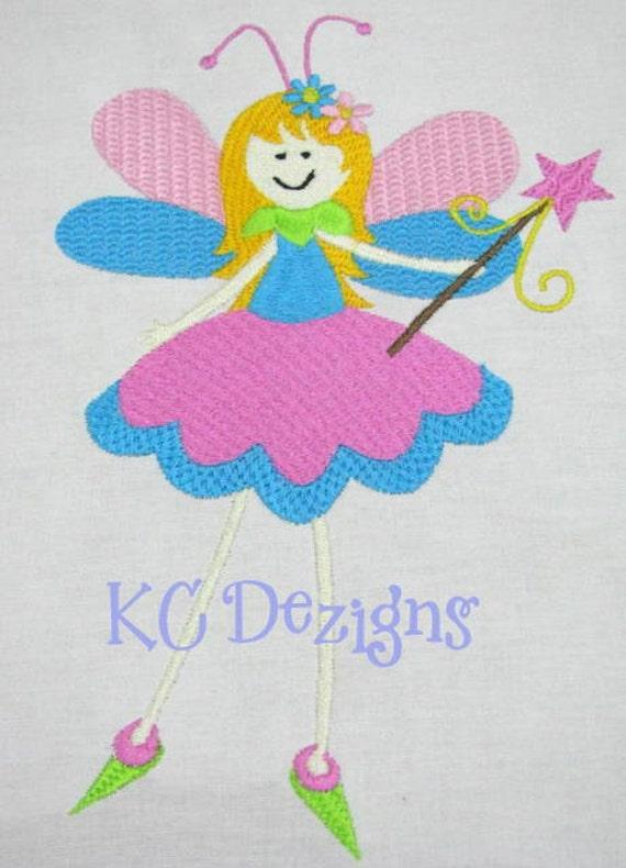 Garden fairies 01 machine embroidery design garden fairy for Garden embroidery designs