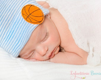 BASKETBALL NEWBORN HAT, newborn hospital hat, boy newborn, Baby boy hat, newborn boy hat, boy hospital hat, boy newborn hat, boy baby hat,