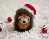 Needle Felted Hedgehog Ornament - Harry