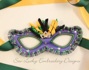 Adult Fringed Mask - Halloween costume - Halloween Mask - mardi gras - mask - dress up - masquerade party - mask- OOAK