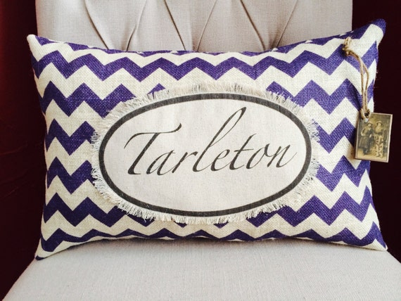 tarleton state university pillow by twotexascowgirls on etsy