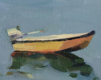 Beach Decor Boat Oil Painting  by B. Kravchenko for SEASTYLE