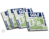 Golf Lover Coasters - Set of 4 - Golf Coasters - Set of Coasters - Great Gift Idea