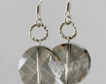 Smoky hoop earrings Bridesmaid gifts Free US Shipping handmade Anni designs