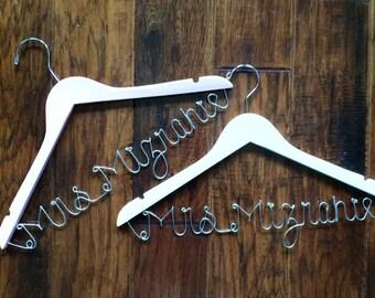 Romantic Custom Bridal Hanger, ultra premium double gloss hangers, gay wedding, lesbian wedding