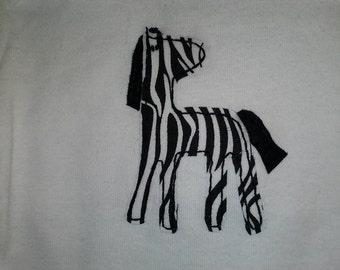 zebra applique shirt