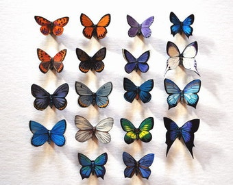 Butterfly Magnets Set of 18 Refrigerator Magnets Insects Kitchen Decor Gifts