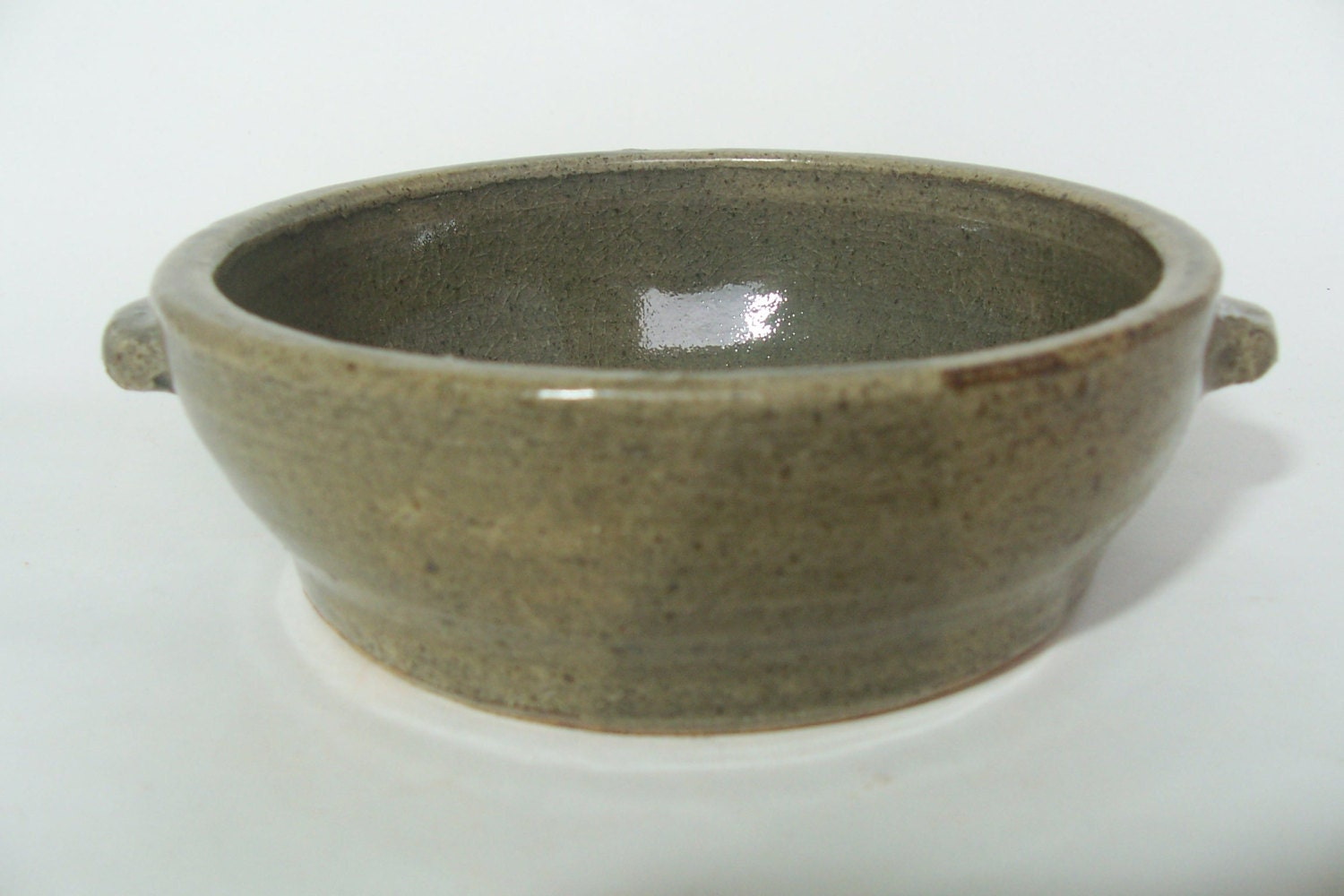 Stone Baking Dish : Hand thrown stoneware small baking dish with by
