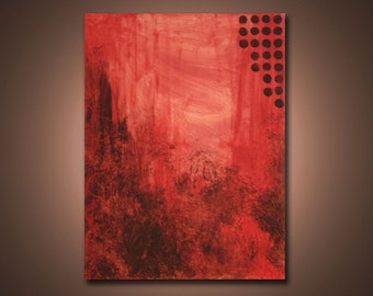 Evening Reds --- 2 ft x 1.5 ft Modern Abstract Acrylic Painting --- Home Decor