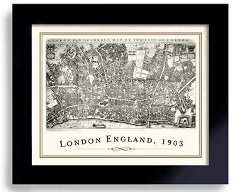 Streets of London Sherlock Holmes Map of London England, 221B Baker Street, Geekery Office Art Old London Geekery Dr Watson Detective Art