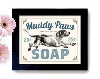 Laundry Room Decor Dog Art Home Laundry Sign Wall Art Print Washing Machine Kitchen Art Mud Room Clothespin