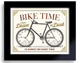 Bicycle Art Print Bike Gift for Biker Cycling Art Retro Bike Vintage Bike Cyclist Gift Art Poster DexMex Antique Bicycle