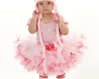 READY TO SHIP: Complete Costume - Petti Tutu Skirt - Halloween or Birthday Pig Costume - Pink - Squiggly Piggly - 4 Toddler Girl