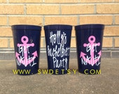 Get Nauti Bachelorette Party Tumblers, Set of 7, Party Cups, Bridesmaids