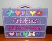 Purple Organizer Box - Rainbow Loom, Shopkins, Wrapit Loom, Yummies, Lego, Beads & First Aid Supplies