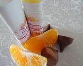 Orange Chocolate - Lip+Cuticle Balm - .15oz Oval Twist Up Tube - 100% Organic -- BPA Free Container