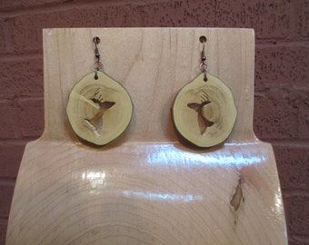 Wood Slice Earring