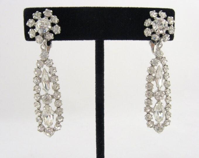 Sherman Earrings // Vintage Crystal Drop Earrings // Signed Sherman // Swarovski Crystal Earrings //