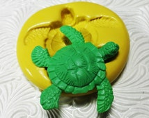 Turtle Mold Flexible Silicone Rubber Push Mold for Resin Wax FIMO Fondant Royal Icing Chocolate Polymer Clay Metal Clay