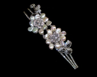 Sumptuous - couture bridal headpiece - Swarovski and pearl