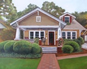 Reserved for Alex - Custom House Portrait - House Painting - Oil Painting - 11x14