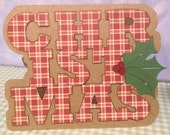 Plaid Christmas Cards Handmade