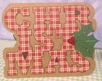 Plaid Christmas Cards Handmade