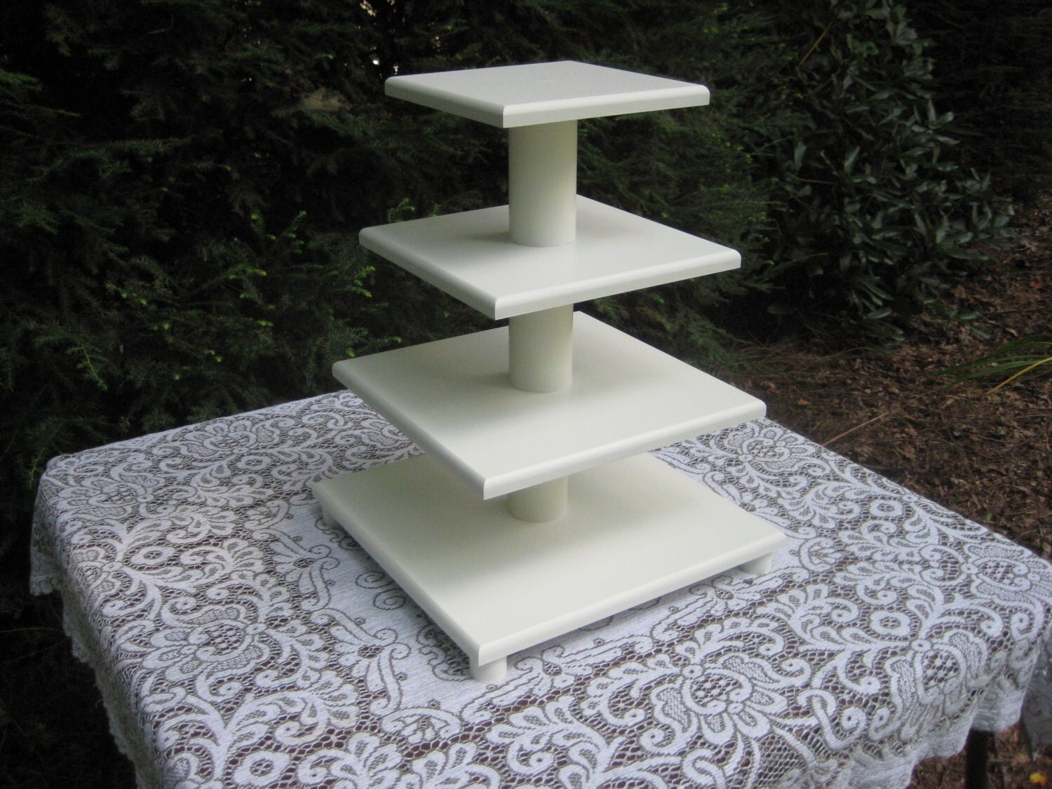 Cupcake stand cupcake tower square cupcake stand wood for Cupcake stand plans