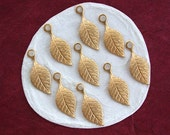 Brass Stampings, Leaf Stampings, Leaf Charms, Brass Leaf Stampings, Leaves, Made in the USA  STA-138