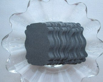 Charcoal Gray Wedding, Escort, Place cards, tags, 50pc