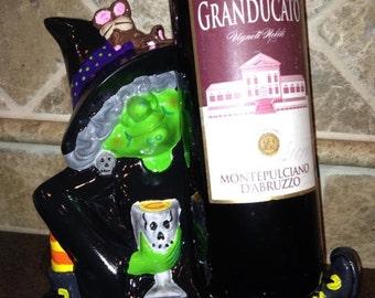 Ceramic Wine Witch: Black