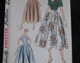 1950 Simplicity Pattern Misses Cocktail BLOUSE and SKIRT