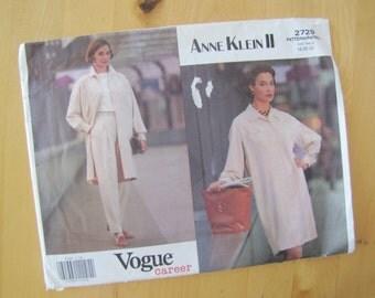 Uncut Vogue Sewing Pattern 2729 - Anne Klein II - Misses/Misses Petite Dress & Pants - Size 18-22