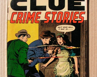 1952 Real Clue Comic Book - Crime stories from the 1950s
