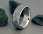 Titanium Ring, Wood Grain, White Ash Tree, Mens Ring, Titanium Band, Womens Ring, Titanium Wood Band, Titanium Wedding Ring, Engagement Ring