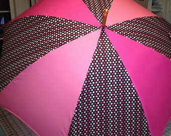 Polka dot with pink umbrella