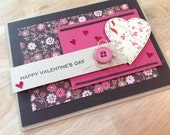 Card - Valentine - Patterned Hearts