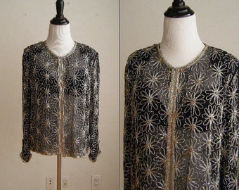 1980's Vintage Beaded Evening Jacket by Mark & John Gopal