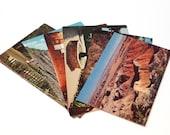 Jumbo Postcards (6) unused Florida Arizona Colorado California Travel Souvenir Vintage Kodachrome Canyon Desert FREE US SHIPPING