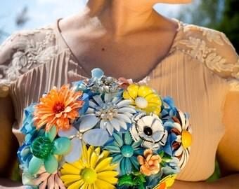 Sale/Brooch Bouquet,Daisy Brooch Bouquet,, Ready To Ship