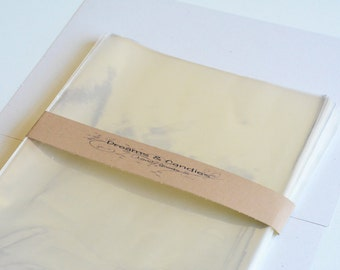 """50 Clear Cello bags size 8 1/2"""" x 11"""""""