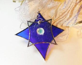 Christmas Star. Suncatcher, Christmas ornament