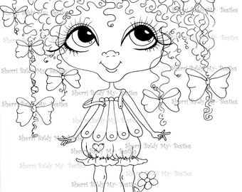 INSTANT DOWNLOAD Digital Digi Stamps Big Eye Big Head Dolls Biffle Besties img247 My Besties By Sherri Baldy